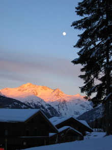 Sunset in La Tania